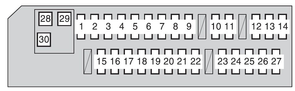 Toyota RAV4 (XA30; 2009 - 2012) - fuse box diagram - Auto Genius