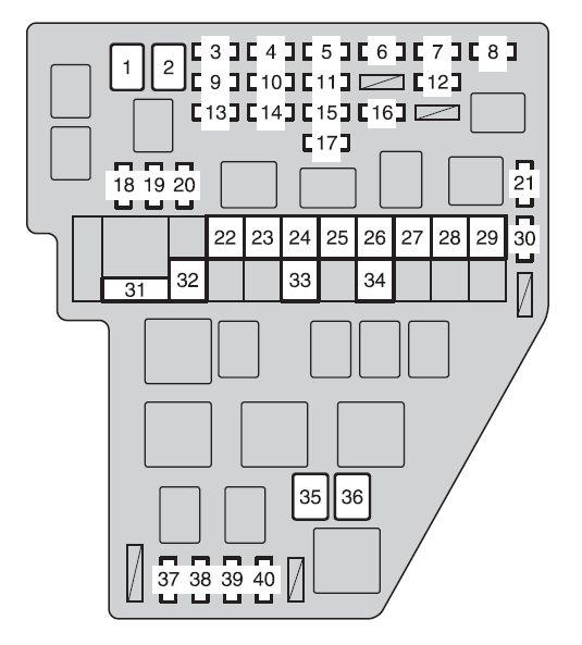 2010 Toyota Sienna Fuse Box Wiring Diagram