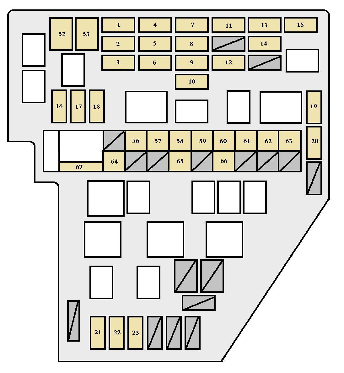 2006 toyota sienna fuse diagram