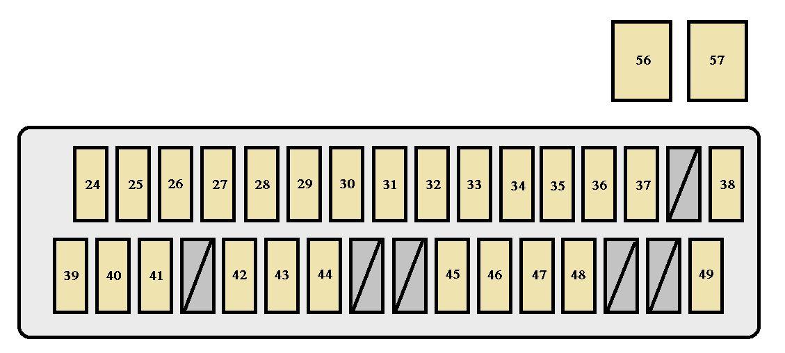 Toyota Sienna Second Generation mk2 (XL20; 2006) - fuse box diagram