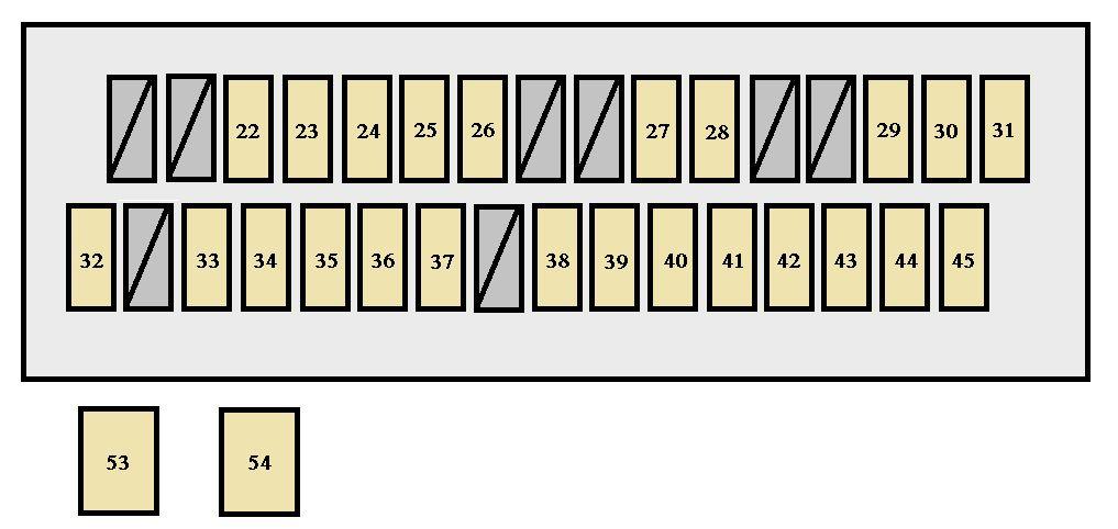 Toyota Solara Second Generation mk2 (2004 - 2005) - fuse box diagram