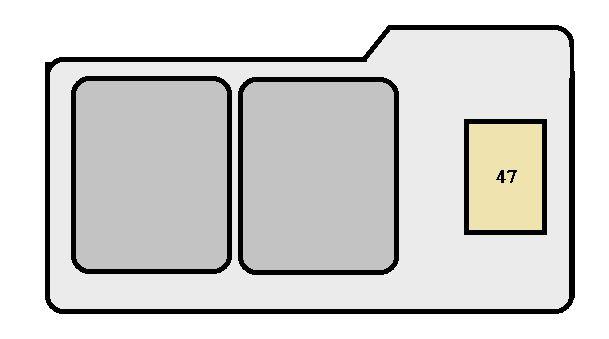 Toyota Solara First Generation mk1 (1999 - 2002) - fuse box diagram