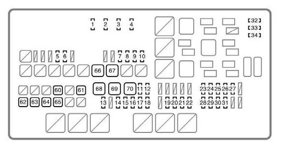 Toyota Tundra (2007 - 2008) - fuse box diagram - Auto Genius
