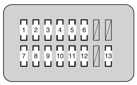 Toyota Land Cruiser (2008 - 2009) - fuse box diagram - Auto Genius