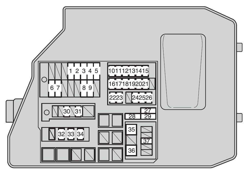 2012 toyota sienna fuse box diagram