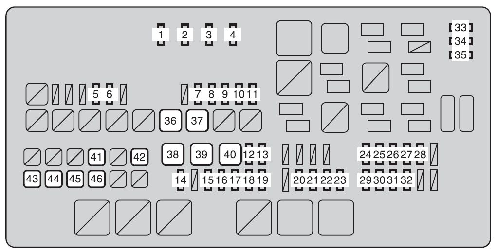 2012 toyota tundra fuse box location