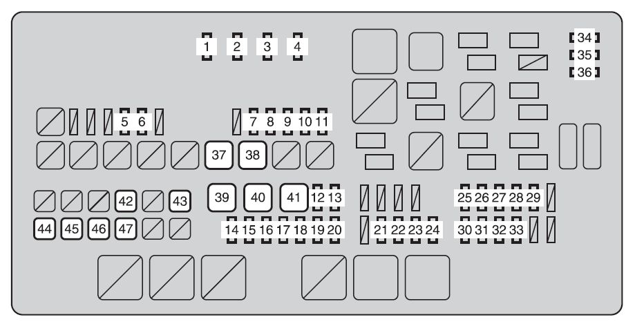 2002 Tundra Fuse Box Index listing of wiring diagrams