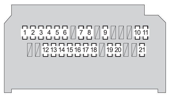 Toyota Yaris Hatchback (2008 - 2010) - fuse box diagram - Auto Genius