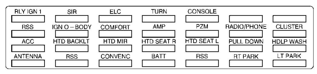 1999 Cadillac Fuse Box - Wiring Diagram Progresif