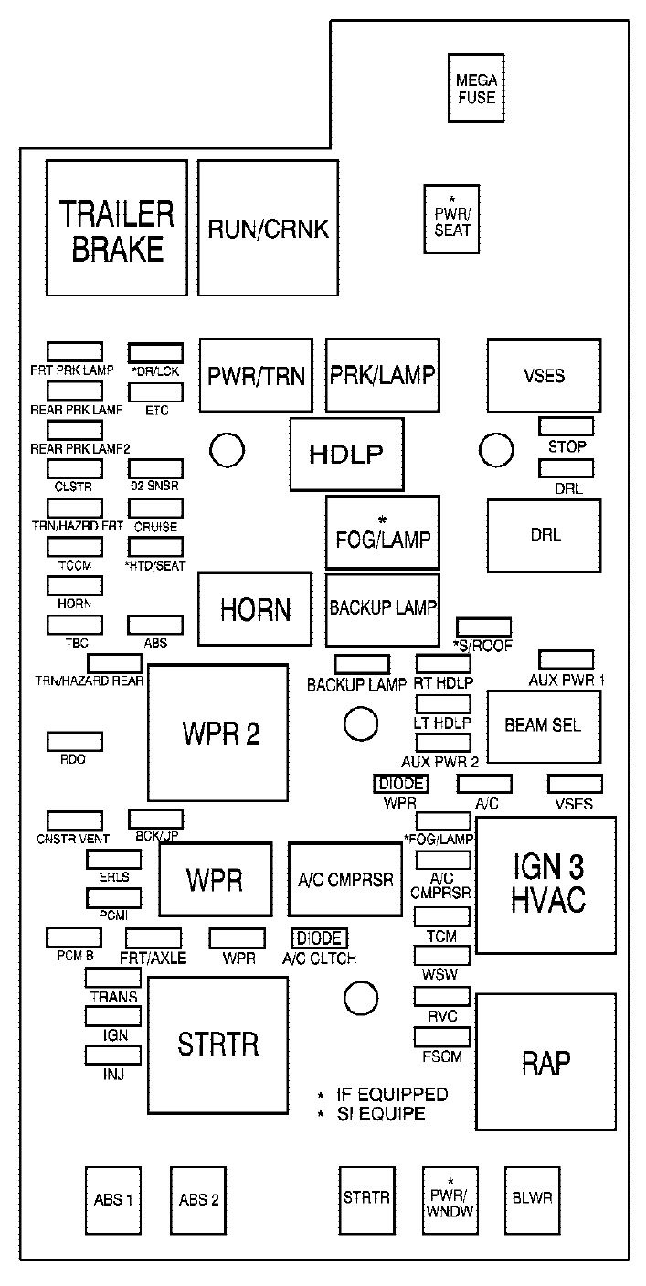 2011 chrysler town and country fuse diagram