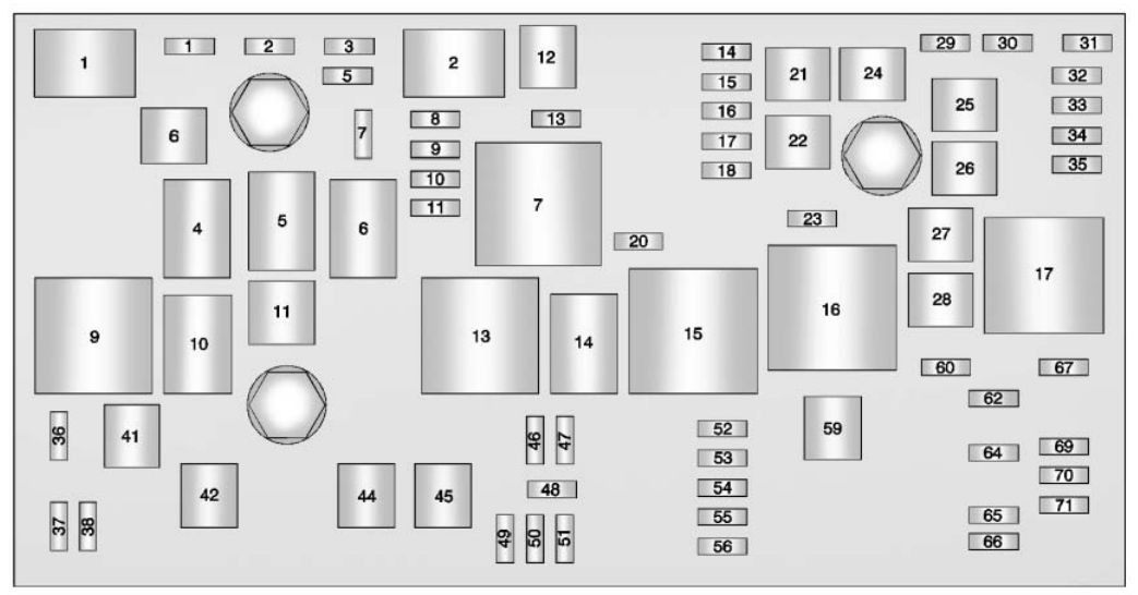 Buick LaCrosse (2013 - 2015) - fuse box diagram - Auto Genius