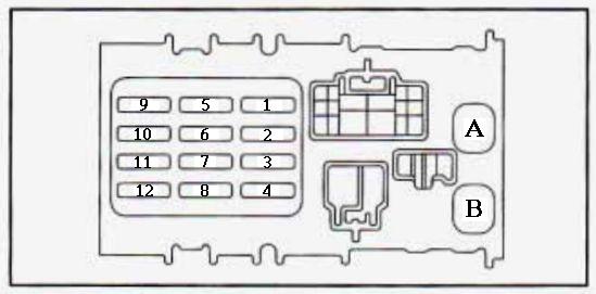 1997 geo prizm fuse panel diagram