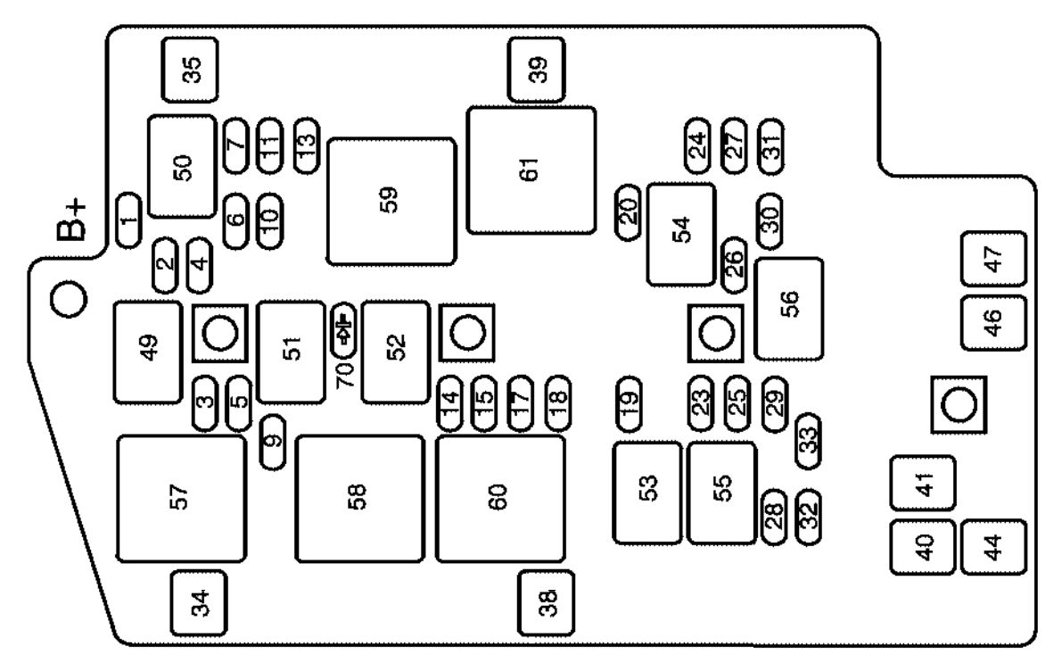 2004 buick rendezvous fuse panel diagram