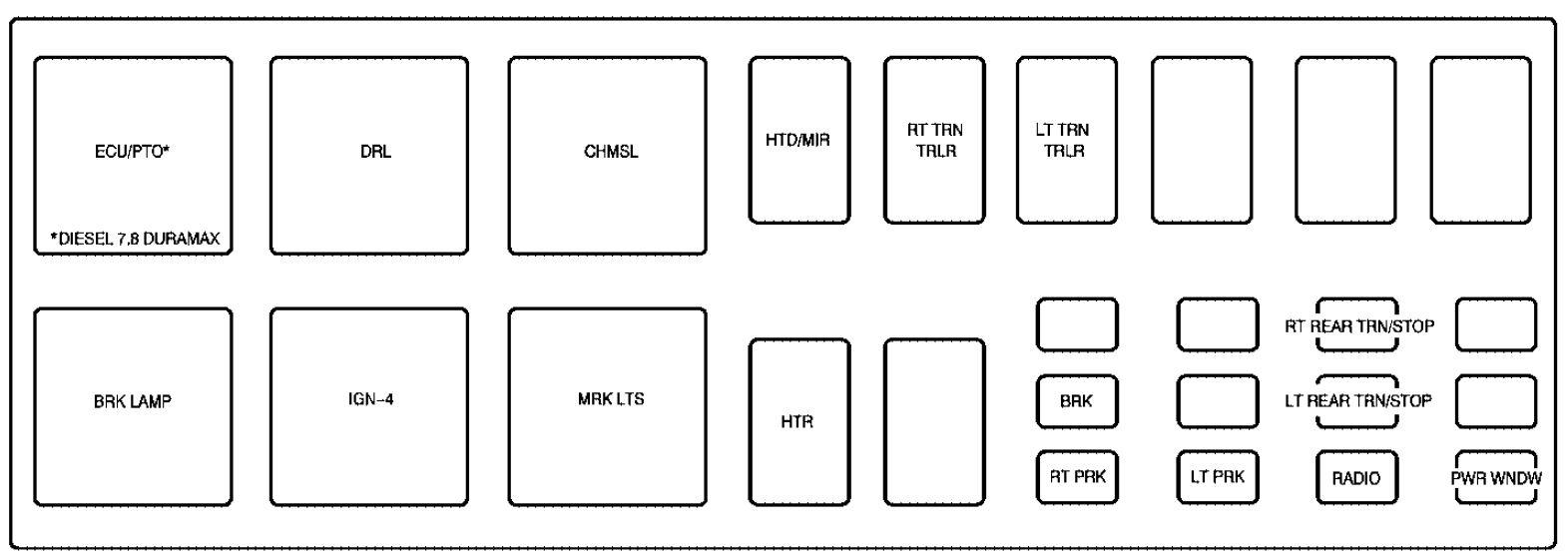 gmc c7500 fuse box diagram