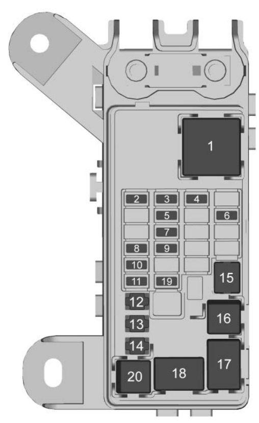 GMC Yukon (2017) - fuse box diagram - Auto Genius