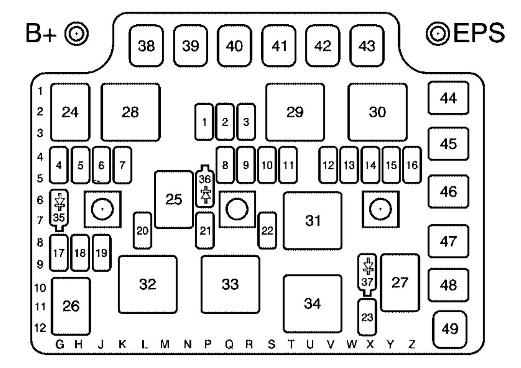 for a 2005 saturn ion fuse box diagram