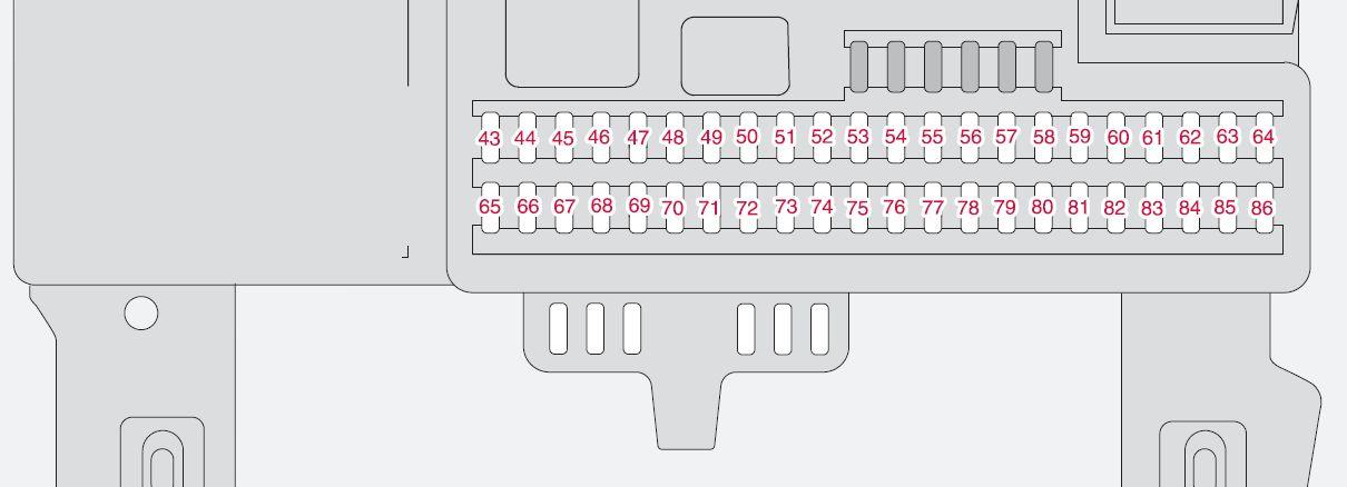 Volvo S40 mk2 (Second Generation; 2005) - fuse box diagram - Auto Genius