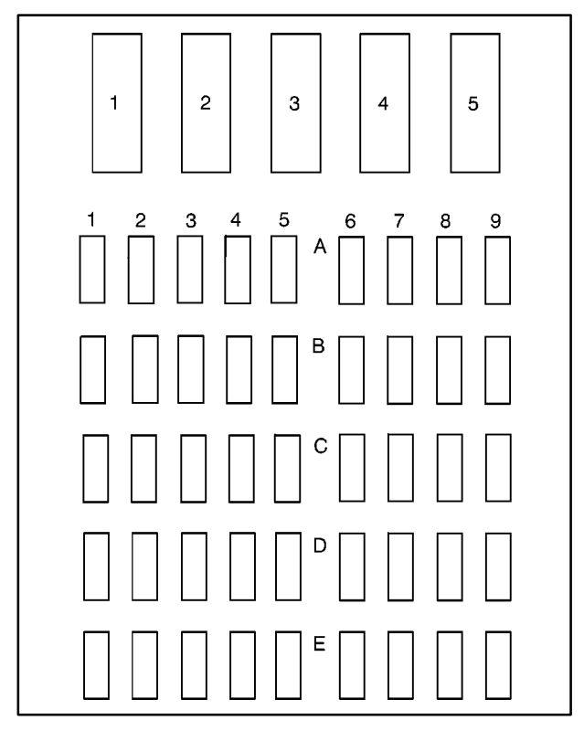 Pontiac Boneville (1997 - 1999) - fuse box diagram - Auto Genius