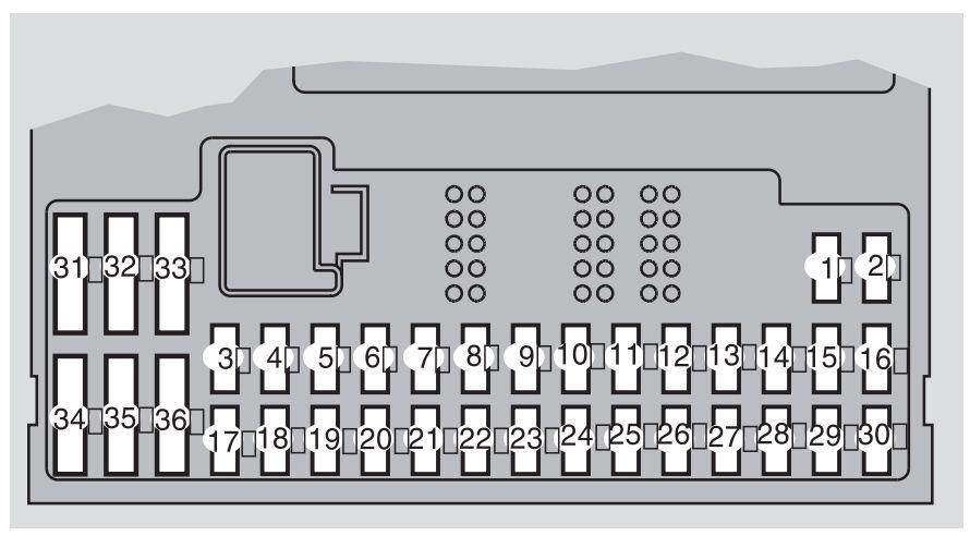Volvo S60 mk1 (First Generation; 2007) - fuse box diagram - Auto Genius