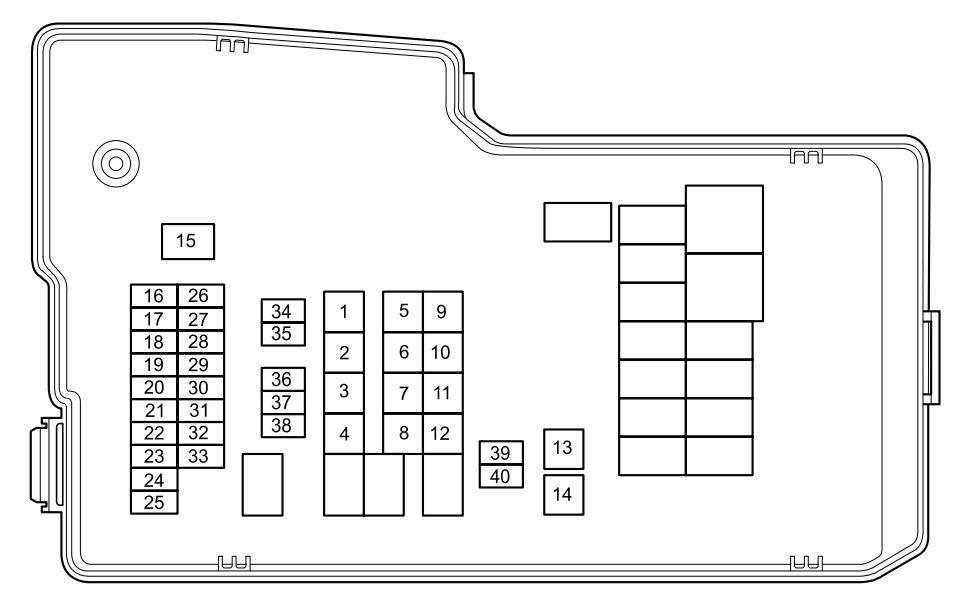 Mazda 5 (2012 - 2013) - fuse box diagram - Auto Genius
