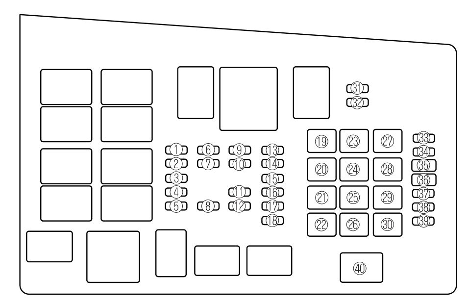 Mazda 6 (2006 - 2008) - fuse box diagram - Auto Genius