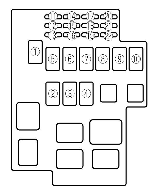 Mazda Millenia (1995 - 2002) - fuse box diagram - Auto Genius