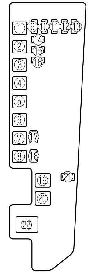 Mazda MPV (2002 - 2006) - fuse box diagram - Auto Genius
