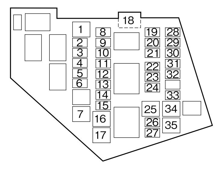 Mazda MX-5 (2010 - 2015) - fuse box diagram - Auto Genius