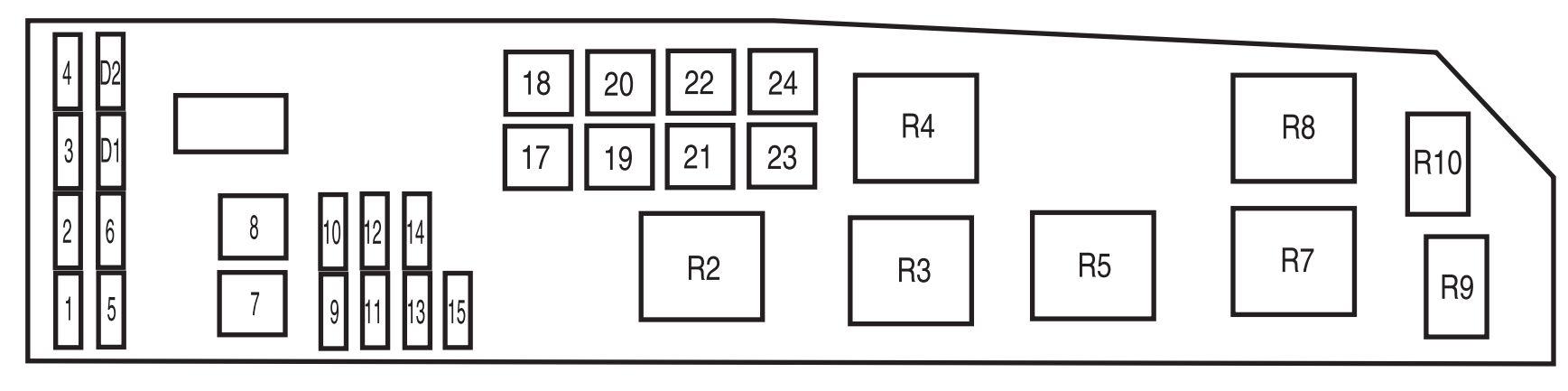 mazda fuse map diagram3 148x300 mazda tribute 2005 power 2002 Ford Ranger Fuse Box Diagram