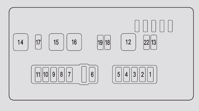 Acura MDX (2009 - 2010) - fuse box diagram - Auto Genius