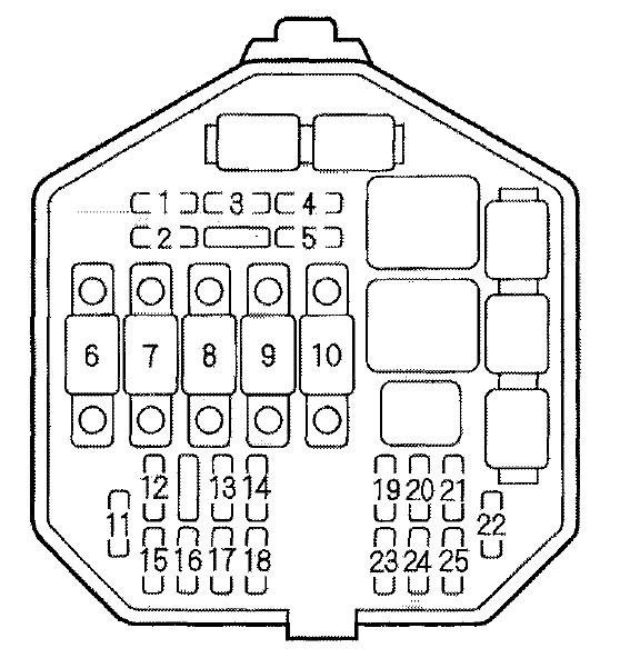 Acura NSX (2001) - fuse box diagram - Auto Genius