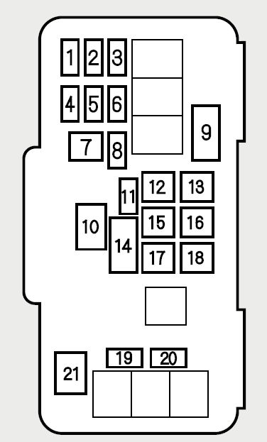 2000 honda accord fuse panel diagram