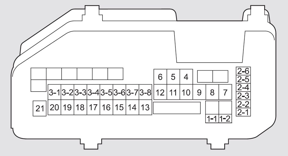 Honda Crosstour (2011 - 2012) - fuse box diagram - Auto Genius
