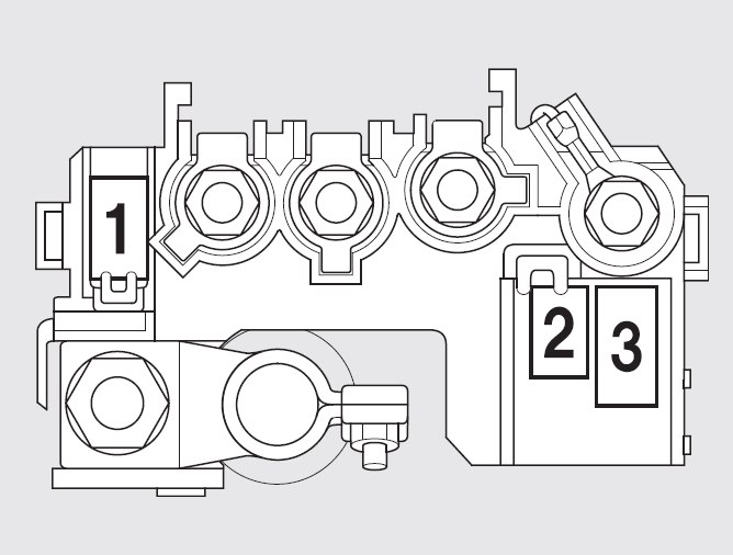 Honda Fit (2009 - 2010) - fuse box diagram - Auto Genius