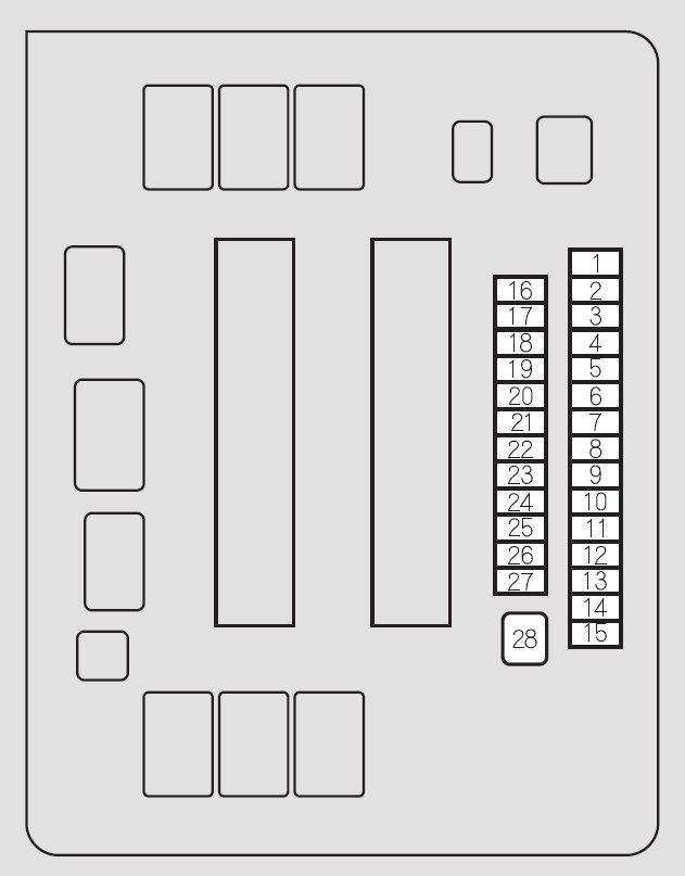 2012 honda odyssey interior fuse box diagram