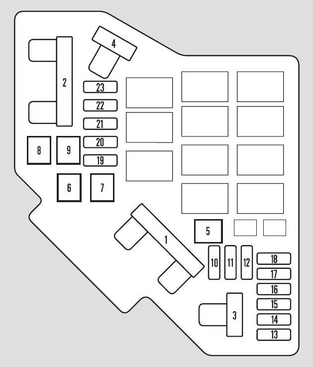 Honda Pilot (2010 - 2011) - fuse box diagram - Auto Genius