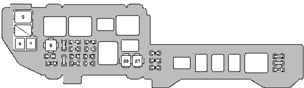 Lexus ES300 (1998) - fuse box diagram - Auto Genius