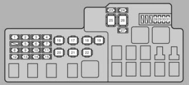 2006 lexus es330 fuse diagram