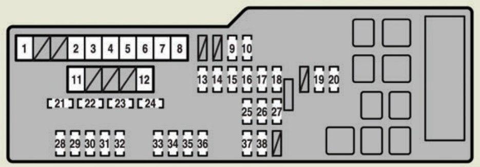Lexus ES350 (2007) - fuse box diagram - Auto Genius