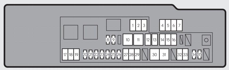 Lexus GS250 (2013 - 2015) - fuse box diagram - Auto Genius