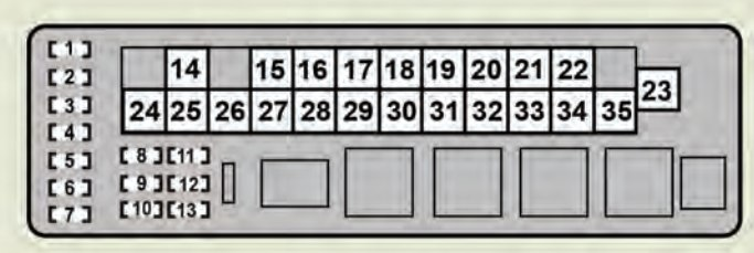 Lexus GS350 (2008 - 2009) - fuse box diagram - Auto Genius