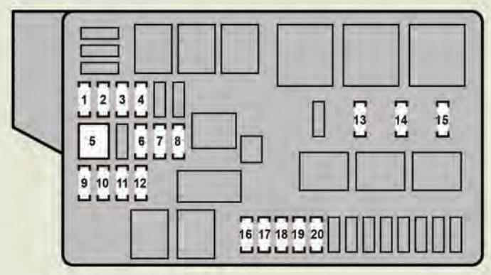 Lexus GS350 (2008 - 2009) - fuse box diagram - Auto Genius
