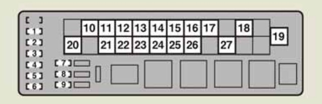 Lexus IS F (2014) - fuse box diagram - Auto Genius