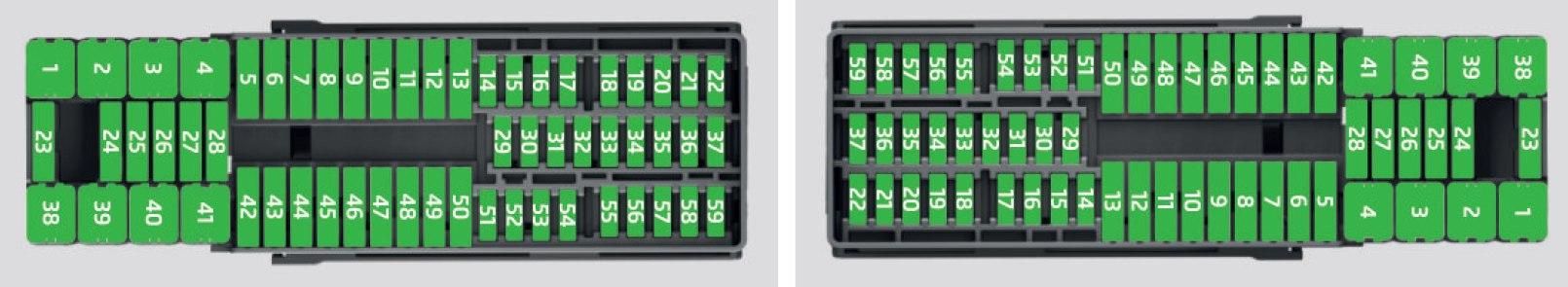 fuse box in skoda rapid
