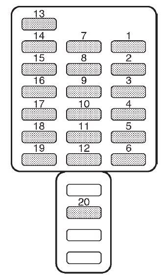 Subaru Forester (2002) - fuse box diagram - Auto Genius