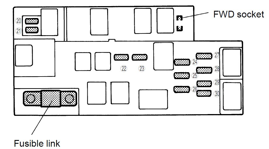 2000 subaru fuse box diagram