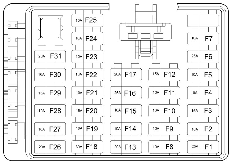 2004 hyundai santa fe fuse box diagram