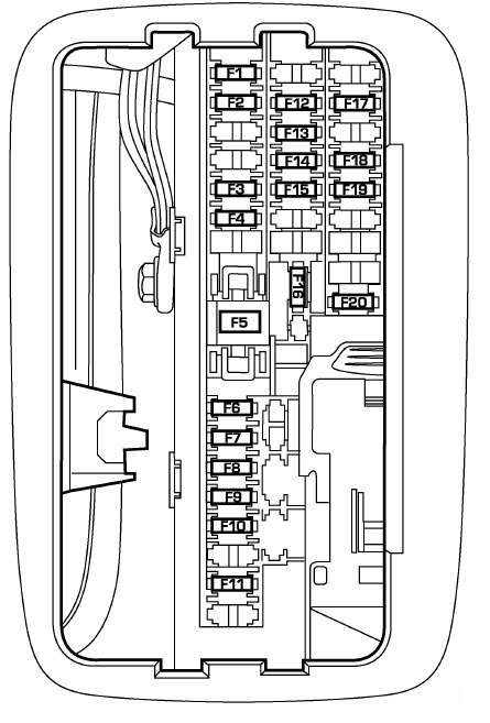 2005 dodge stratus fuse box layout