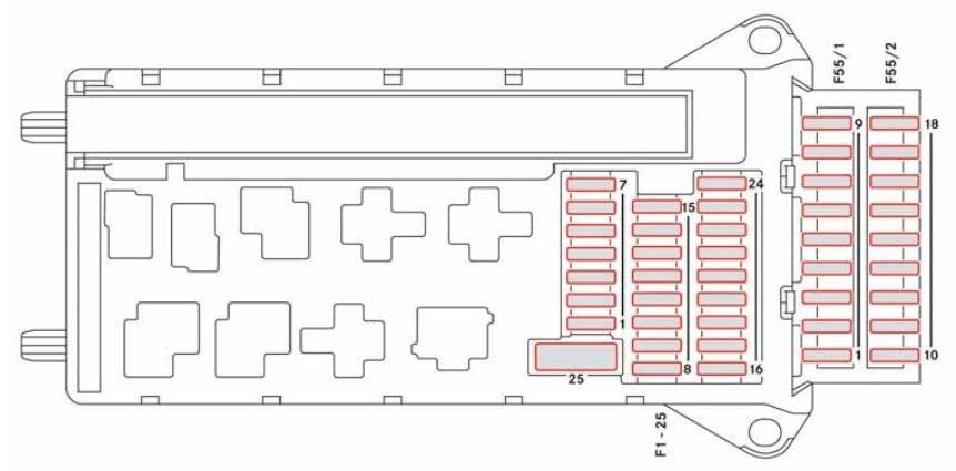 Dodge Sprinter (2008 - 2009) \u2013 fuse box diagram - Auto Genius