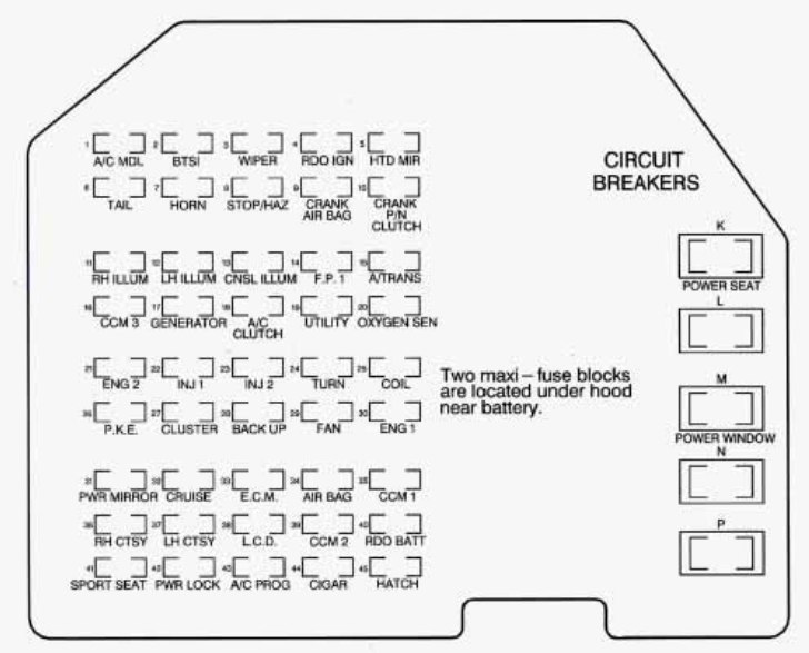 98 Corvette Fuse Diagram Wiring Diagram